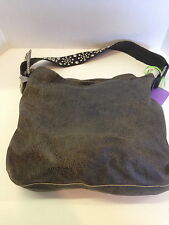 LEATHERROCK Leather Purse Buckle Hobo Shoulder Bag black distressed slouchy NWOT