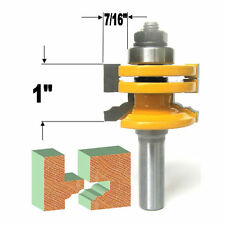 "1 PC 1/2"" Shank Glass Door Rail & Stile Reversible Router Bit sct-888"