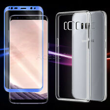 Screen Protector+Durable Case f Samsung Galaxy S8 Plus G955U T-Mobile Cellphone