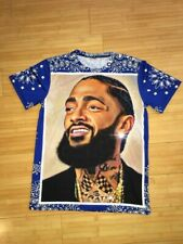 a00e55d5 Nipsey Hussel Red Blue Bandana Sublimation Legendary Crenshaw T shirt Size  S-Xl