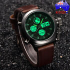 AU Men's Luxury LED Stainless Steel Band Quartz Watches Army Analog Wrist Watch