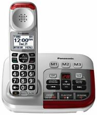 PANASONIC Amplified Cordless Phone w/ Digital Answering Machine 1 Handset SILVER