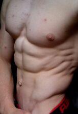 Shirtless Male Beefcake Muscular Hot Jock Chest Abs Close Up PHOTO 4X6 C18