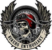 Motorcycle Skull Sticker Harley Davidson Style Tank Helmet Pannier Decal