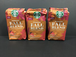 6pk Starbucks Fall Blend Hearty w/ Spice Notes Medium Roast Ground Coffee 10oz