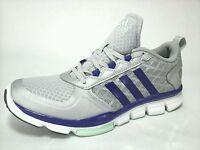 Adidas Womens Ortholite Athletic Gym Yoga Shoes Silver Metallic Purple US 9.5