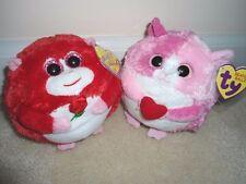 "Ty,""In Love""&Rosa Beanie Ballz;2011/2012 Monkey/Hamster set.Great for V-Day.MINT"
