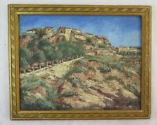 Bild Antike Malerei Derartige Öl Signiert Landschaft Provence Frankreich Borgo