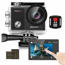 Dragon Touch Vision 3 Pro 4K Action Camera 16MP Ultra HD WiFi 100FT DV Camcorder
