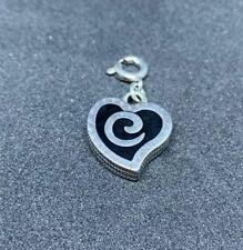 Brighton Reversible ENIGMA HEART  Snap Charm  NWOT  J93352