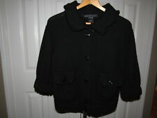 Marc by Marc Jacobs Black Wool Shawl Collar Cardigan Sweater M