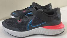 Youth Nike Strap Renew Run Black/Blue-Laser Crimson Shoes Ct1436 -090 Size 2Y