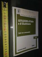 GG LIBRO: Istituzioni di Gaio e Giustiniano  EDIZIONI SIMONE 1991