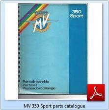 *PDF* of MV AGUSTA 350 Sport original PARTS CATALOGUE BOOK & WIRING DIAGRAM list