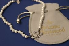 Vivienne Westwood Pearl Choker SILVER Orb Necklace