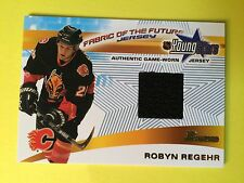 2001-02 Bowman Fabric Of The Future Jersey Young Stars Robyn Regeher