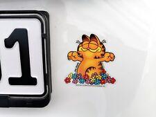 Durchsichtiger Garfield DER TAG KANN KOMMEN Glück Lucky Sticker Aufkleber 8 cm