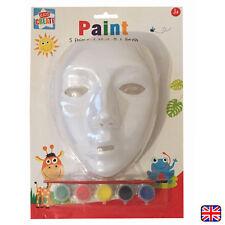 VERNICE proprio Maschera Bianco Plain faccia Maschere per bambini maschere con Vernice Nuovo
