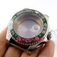 Watch Case Ceramic Bezel Sapphire Glass fit ETA2836 Movement Date Window 43mm