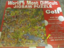 WORLD'S MOST DIFFICULT JIGSAW PUZZLE ~ GOLF ~ DOUBLE SIDED ~ 529 PCS ~ NEW