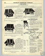 1938 PAPER AD 3 PG Coleman Camp Stove Parts Repair Trailer Cabin Androck