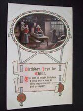 Postcard. Birthday Joys be Thine. Posted 1910 to Wathen Road, Dorking.