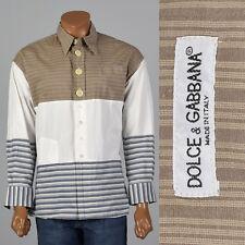 956082dcae XL 2000s Mens Dolce & Gabbana Casual Shirt Long Sleeve Pocket Brown Tunic  Style