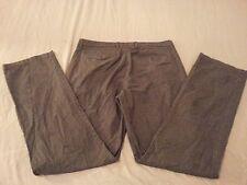 Mens Banana Republic Khaki Pants 33x34 Gray Cotton 35x33 Slack Chino Trouser