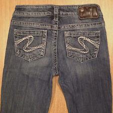 SILVER Jeans AIKO Bootcut 25x33 Medium Distressed  *XLNT EUC*  J040817