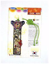 Traditional Korean reader Metal Bookmark - a swing girl02