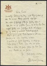 Richard STRAUSS (Composer): Autograph Letter