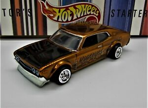 Hot Wheels Custom Nissan Laurel 2000SGX, Real Riders, JDM, Brown Gold, Mooneyes.