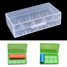 5 00004000 Pcs 18650 Cr123A 16340 Hard Plastic Transparent Battery Case Box Holder kh9