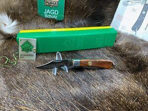 1982 Puma 666 Gelder Folder Knife & Jacaranda Handles Mint In G / Y Box Mint