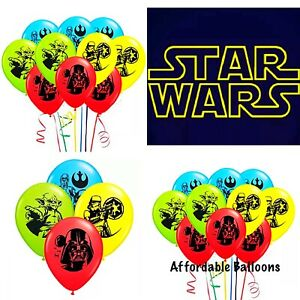 Set Of 12 X 12inch Star Wars Coloured Latex Birthday Party Balloons Decoration