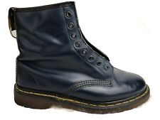 Dr. Martens Doc England Rare Vintage Navy Blue Leather Boot Mens US 9  Women 11