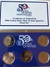 2006-S UNITED STATES 50 STATES QUARTER PROOF COINS SET 5 QUARTERS