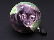 Fahrrad Glocke Klingel Ding Dong 80mm Hund Chihuahua welpe