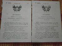 LOTTO RISORGIMENTO MODENA-PARMA REGIO DECRETO REGNO DI SARDEGNA 1800