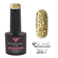 397 VB Line Gold Yellow Glitter - gel nail polish - super gel polish