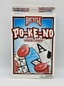 PO- KE- NO Board Game. 2-13 Players . Ages 6 & Up. Bicycle Traditional Game.