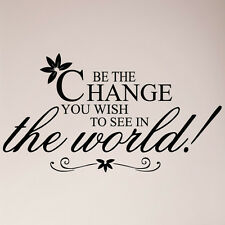"43"" GANDHI Be the change you wish to see in the world Wall Decal Quote Sticker"