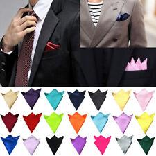 Kerchief Handkerchief Suits Pocket Solid Plain Candy Colors Square Men's Hanky
