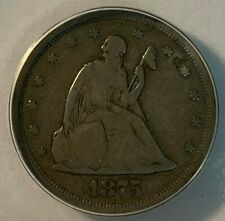 1875 S ANACS VG 8 Seated Liberty Twenty Cent Piece 20C