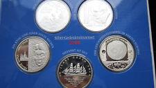 BRD 5 x 10 Euro Silber Gedenkmünzenset 2008 Spiegelglanz PP Original