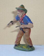 Wildwest - Figur aus Masse : Cowboy mit 2 Pistolen von PLASTINOL