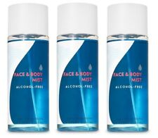 Bath and Body Works Water Alcohol Free Face and Body Mist 3 Pack