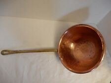 VINTAGE HAMMERED COPPER LADLE/DIPPER WITH LONG BRASS HANDLE