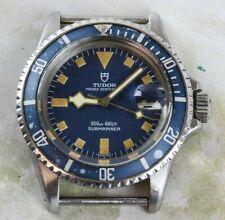 Vintage Tudor (by Rolex) Submariner Snowflake Wristwatch Ref. 9411/0 Blue Dial