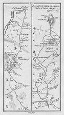 1778 Ireland Eyrecourt Longford Granard Roscommon Tulsk Portumna etc Road Map
